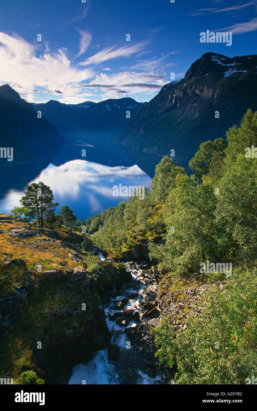 Gerainger Fjord Norway Foto Stock