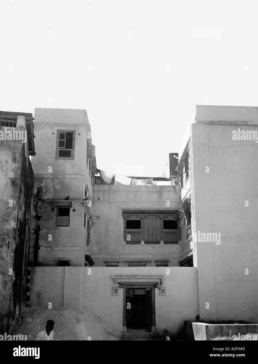Il Mahatma Gandhi casa natale a Porbandar Gujarat India Immagini Stock