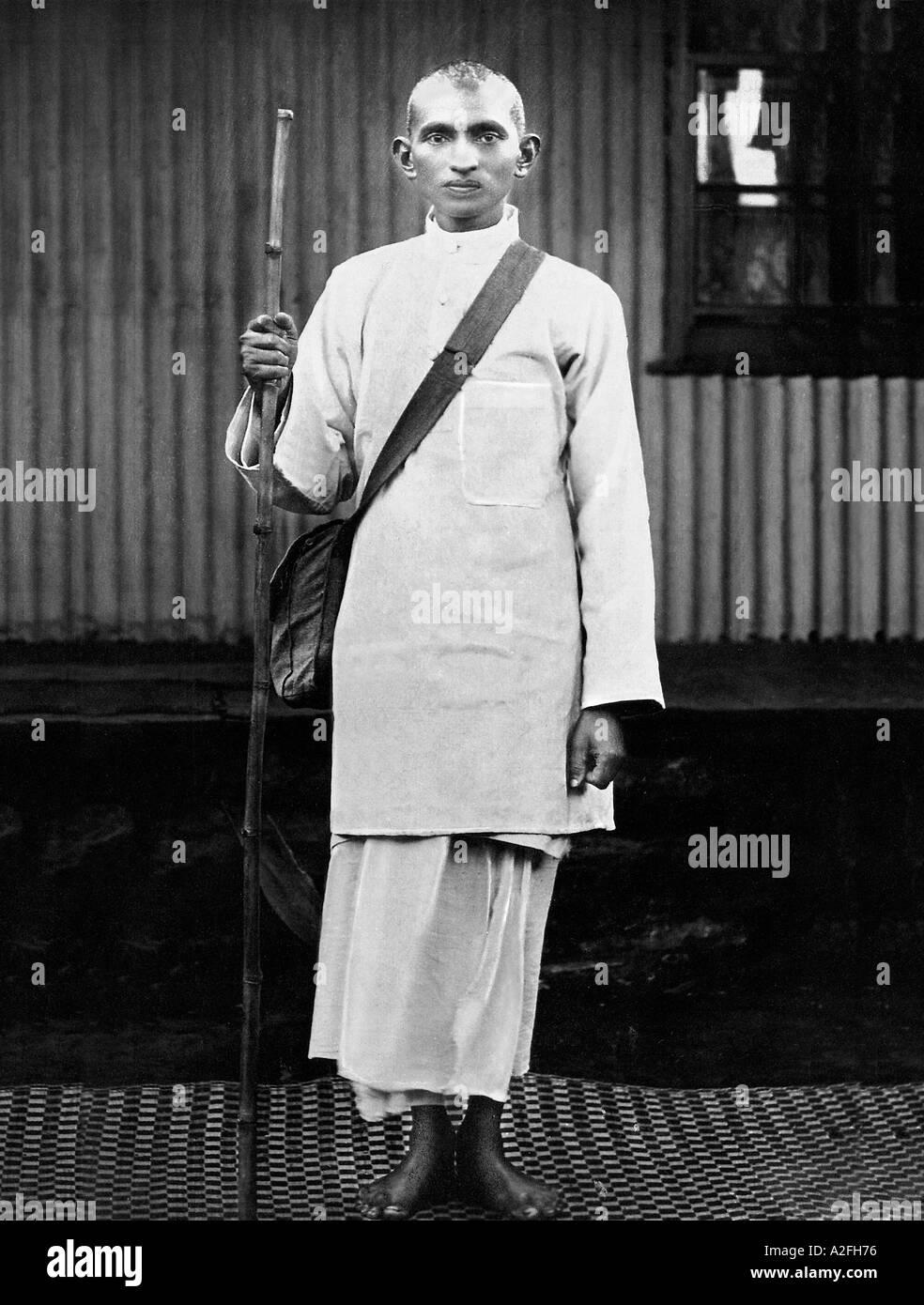 Il Mahatma Gandhi durante la campagna satyagraha 1913 India Immagini Stock