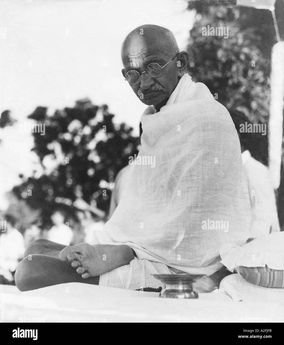 MKG 33518 Mahatma Gandhi Gennaio 1946 Immagini Stock