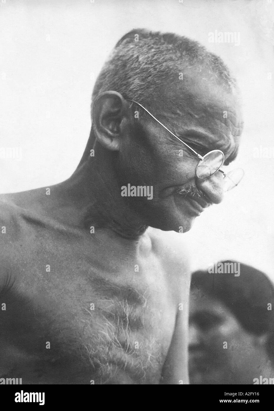 Il Mahatma Gandhi sorridente 1930 Immagini Stock