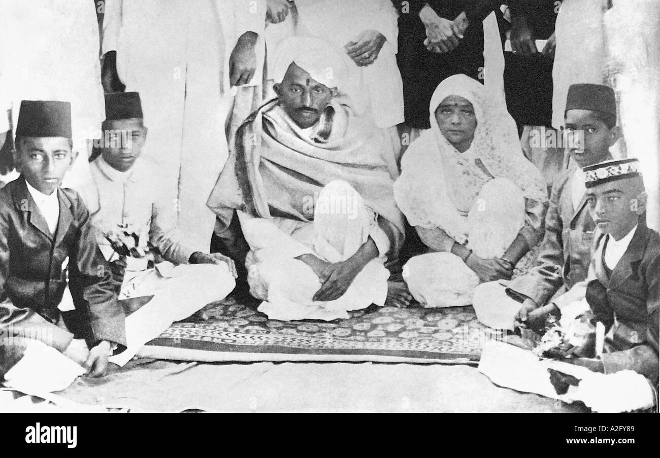 Kasturba Gandhi e il Mahatma Gandhi 1918 Immagini Stock
