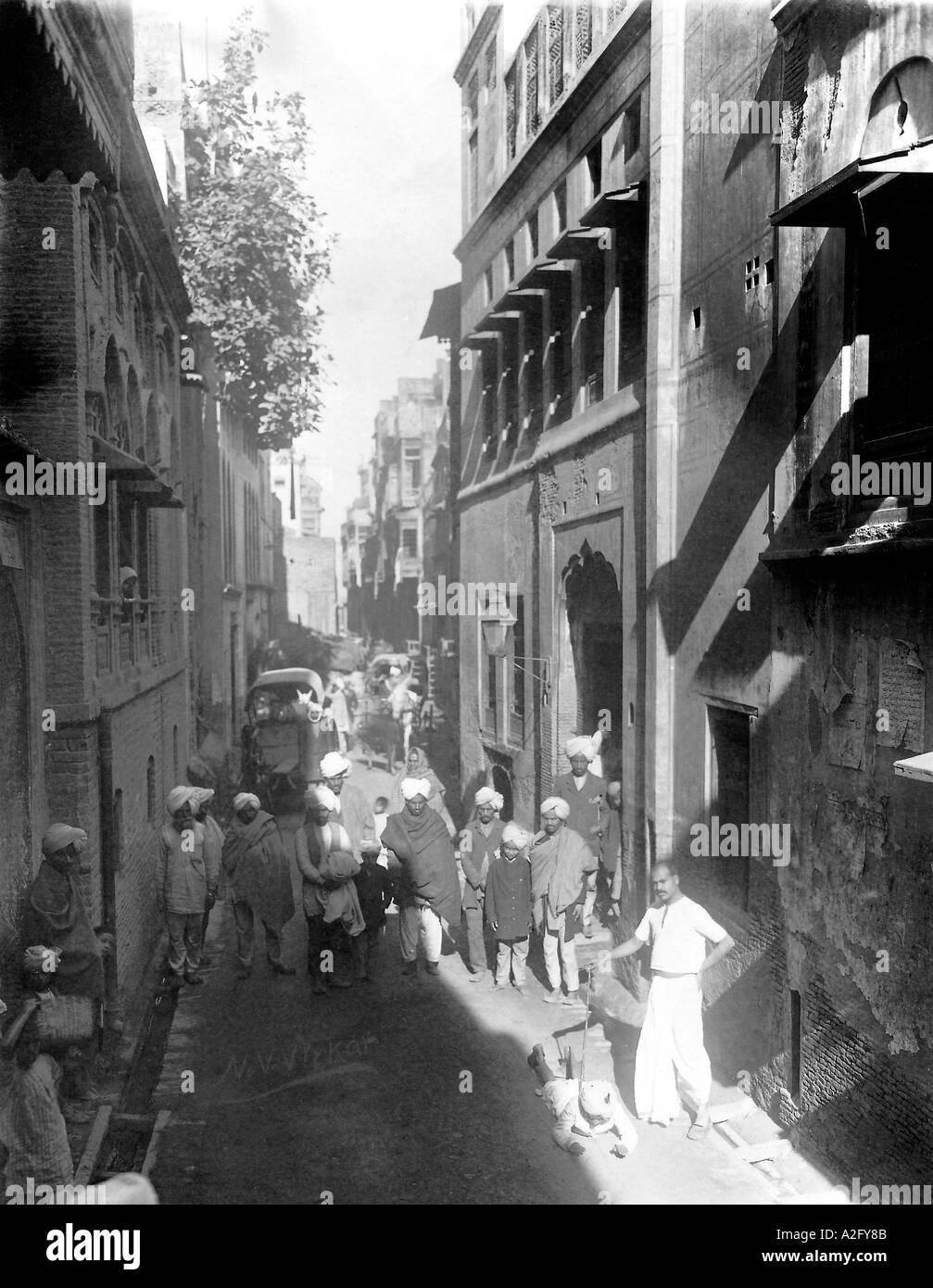 Durante la legge marziale regime nel Punjab India poco prima della Jallianwallah Bagh massacro 1919 Immagini Stock