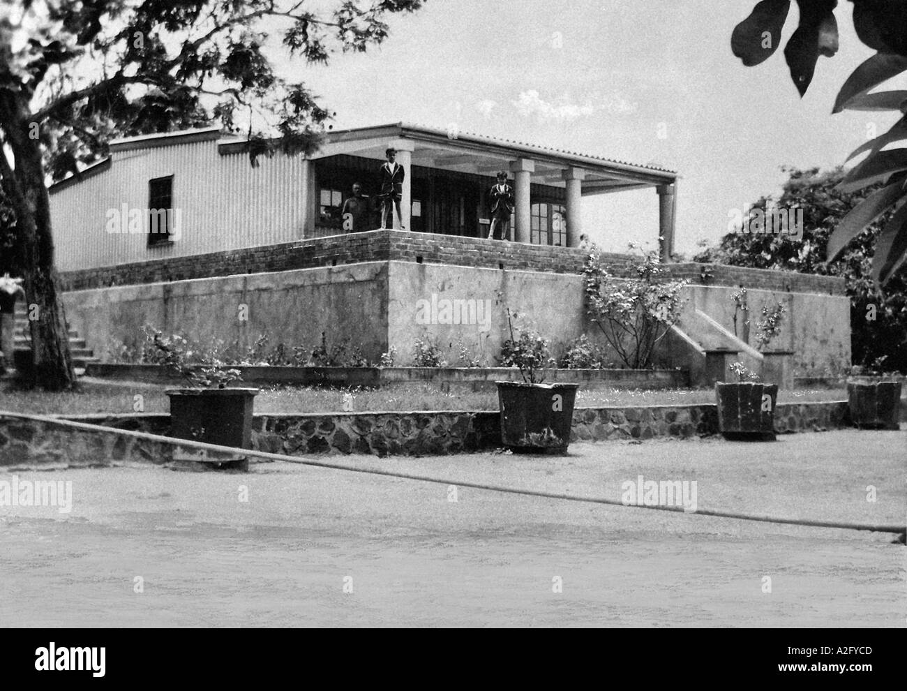 Il Mahatma Gandhi house Sarvodaya a Phoenix Settlement Inanda KwaZulu Natal - Sud Africa 1905 Immagini Stock