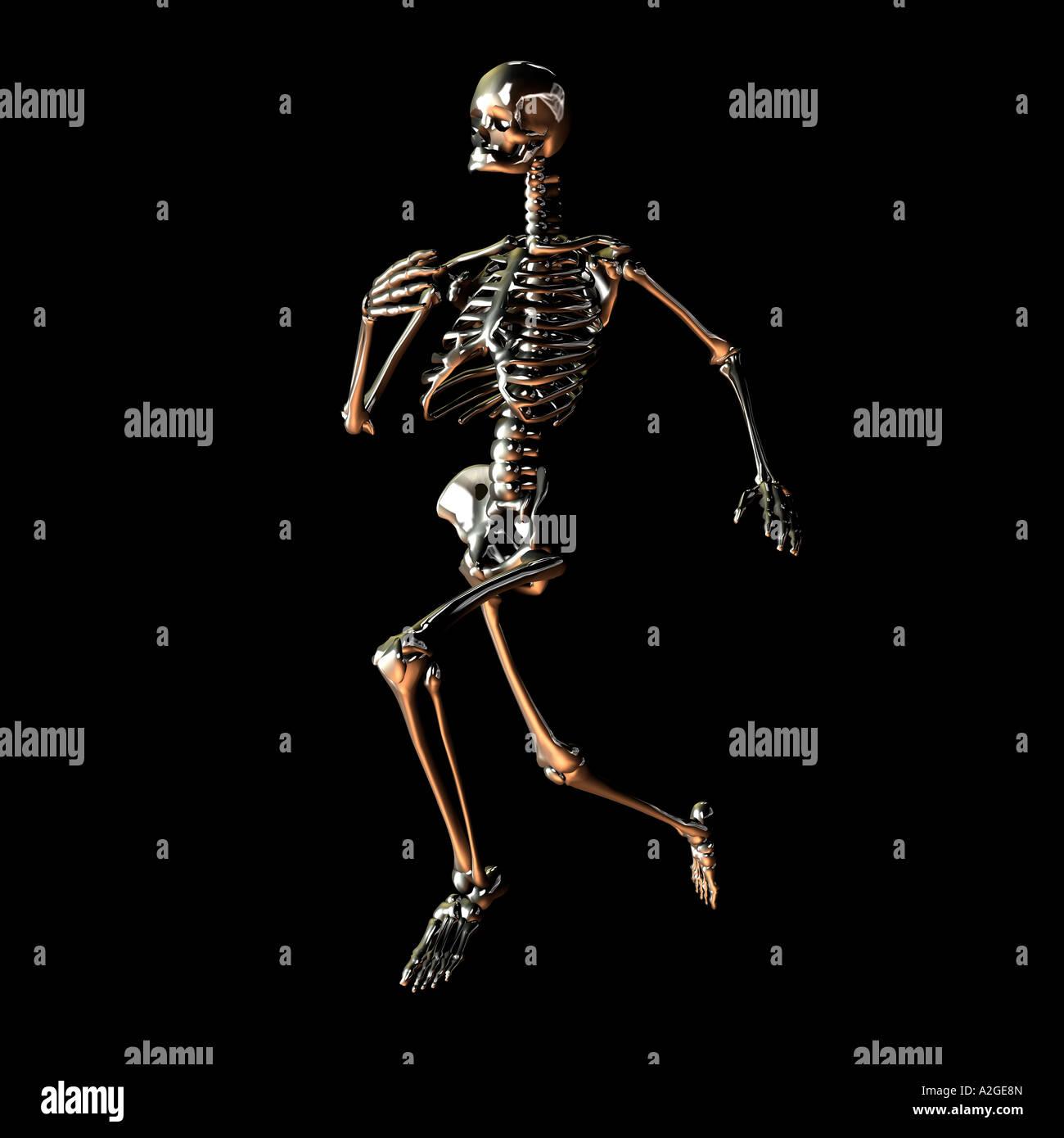Esecuzione dello scheletro Foto Stock