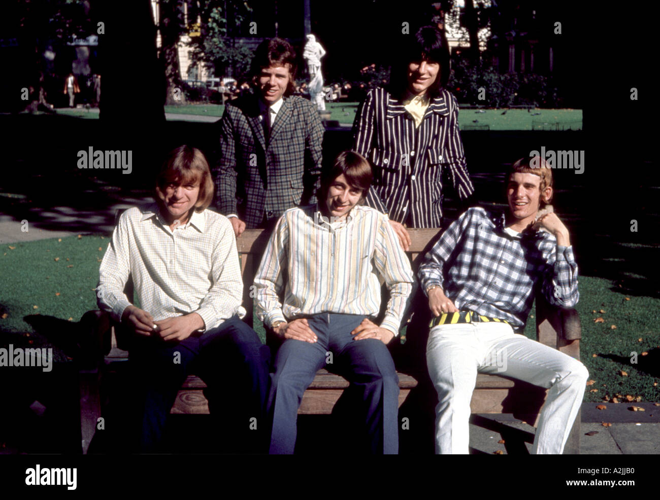 Gli uccelli UK pop band degli anni settanta Immagini Stock