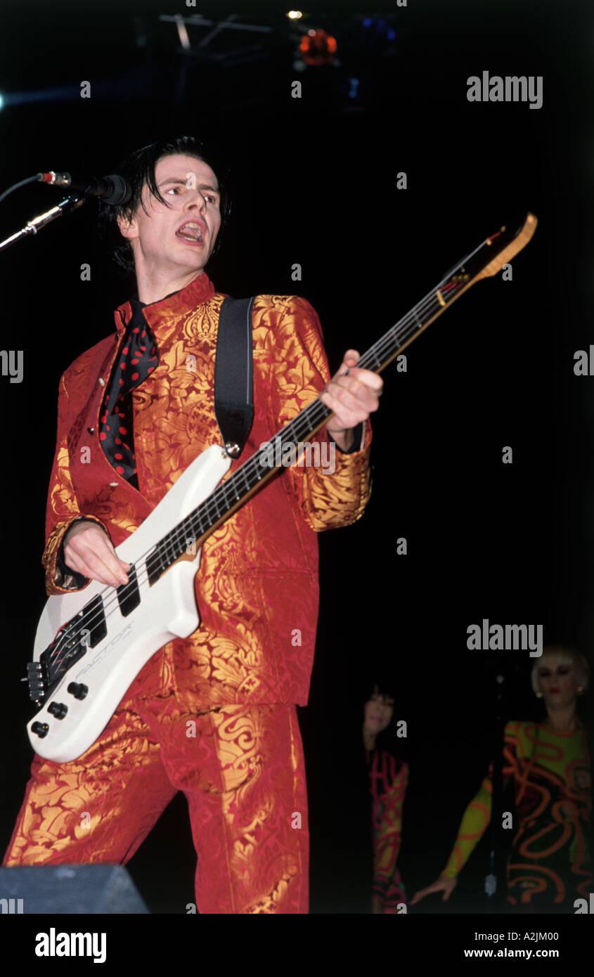 DURAN DURAN UK pop band degli anni ottanta con John Taylor Immagini Stock