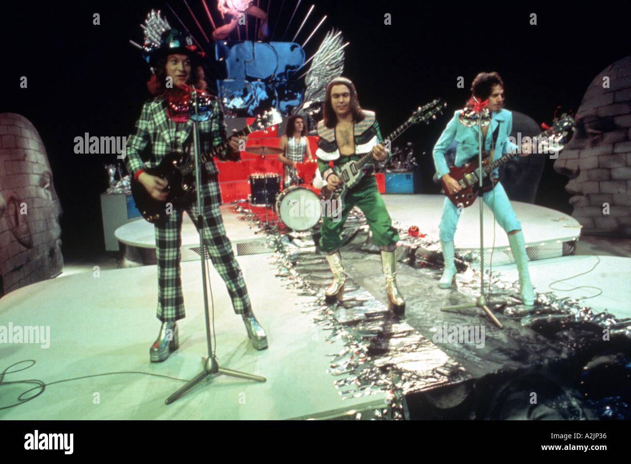 SLADE UK Glam rock band degli anni settanta con Noddy titolare a sinistra Immagini Stock