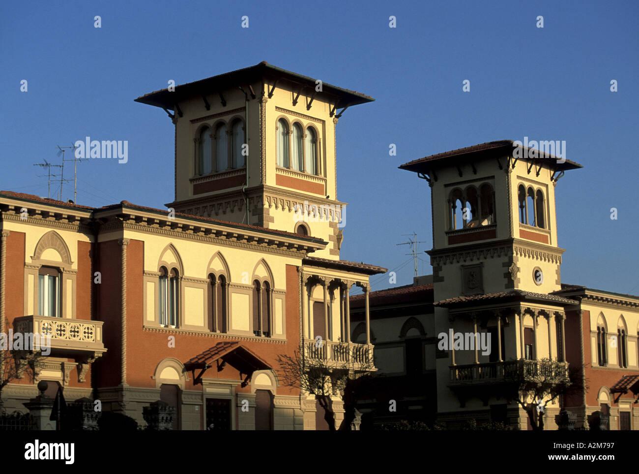 Edificio in stile Liberty in Viale Italia Immagini Stock