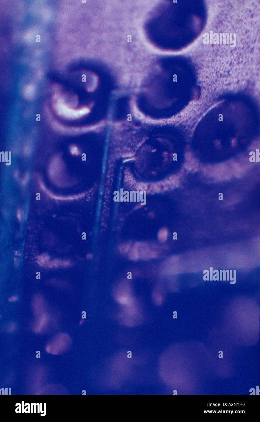 Close-up dettaglio di un circuitboard Immagini Stock