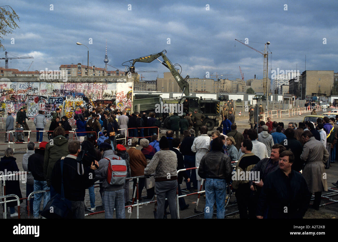 Europa Deutschland Germania Berlino Mauerfall 1989 caduta del muro Potsdamer Platz Immagini Stock