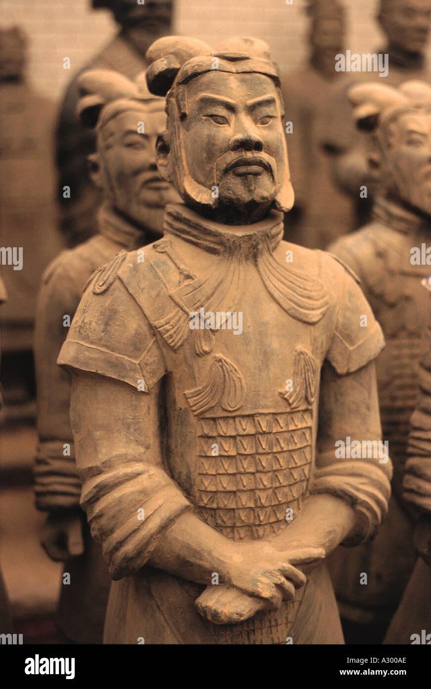 Qin Dynasty Warriors Shan Xi in Cina Immagini Stock