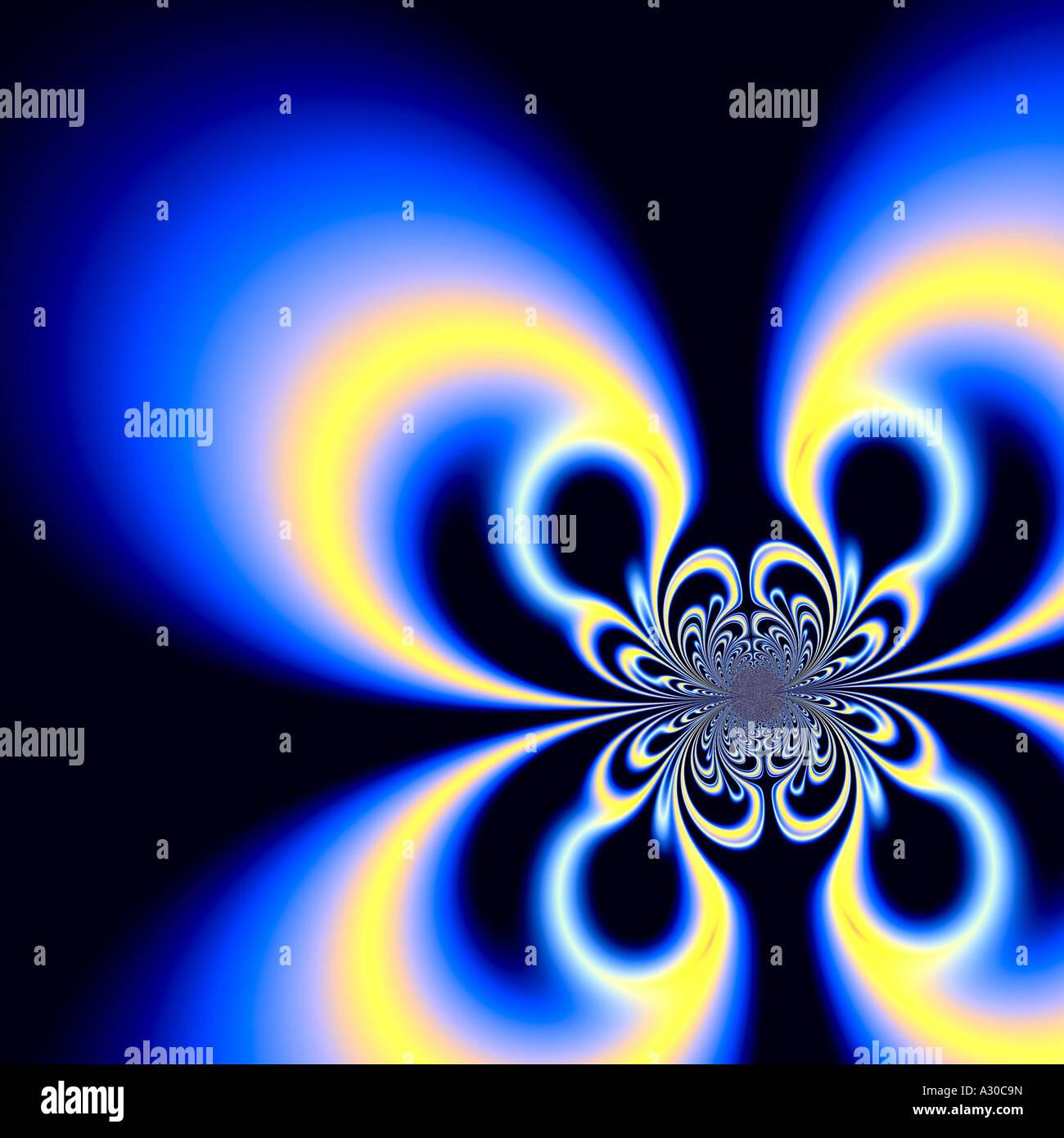 Computer generato frattale amorfo chimera Brillante nube fiction diffuse microcosmo incredibile impulso Immagini Stock