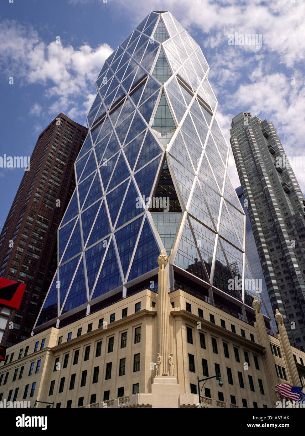 Hearst Tower, 300 West 57th Street, New York. 2006 Architetto: Foster e Partner Immagini Stock