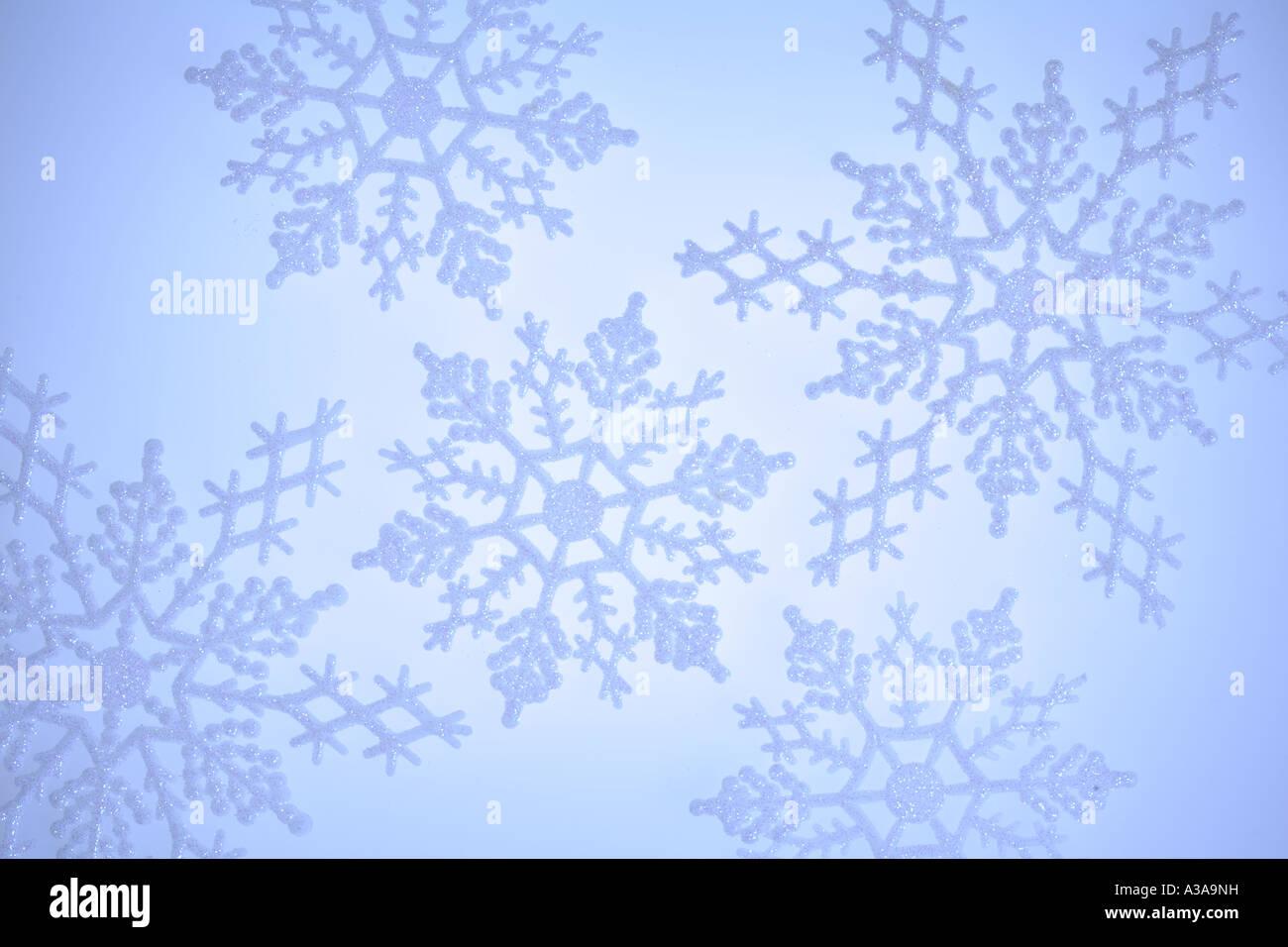 Il simbolo del fiocco di neve ornamenti Immagini Stock