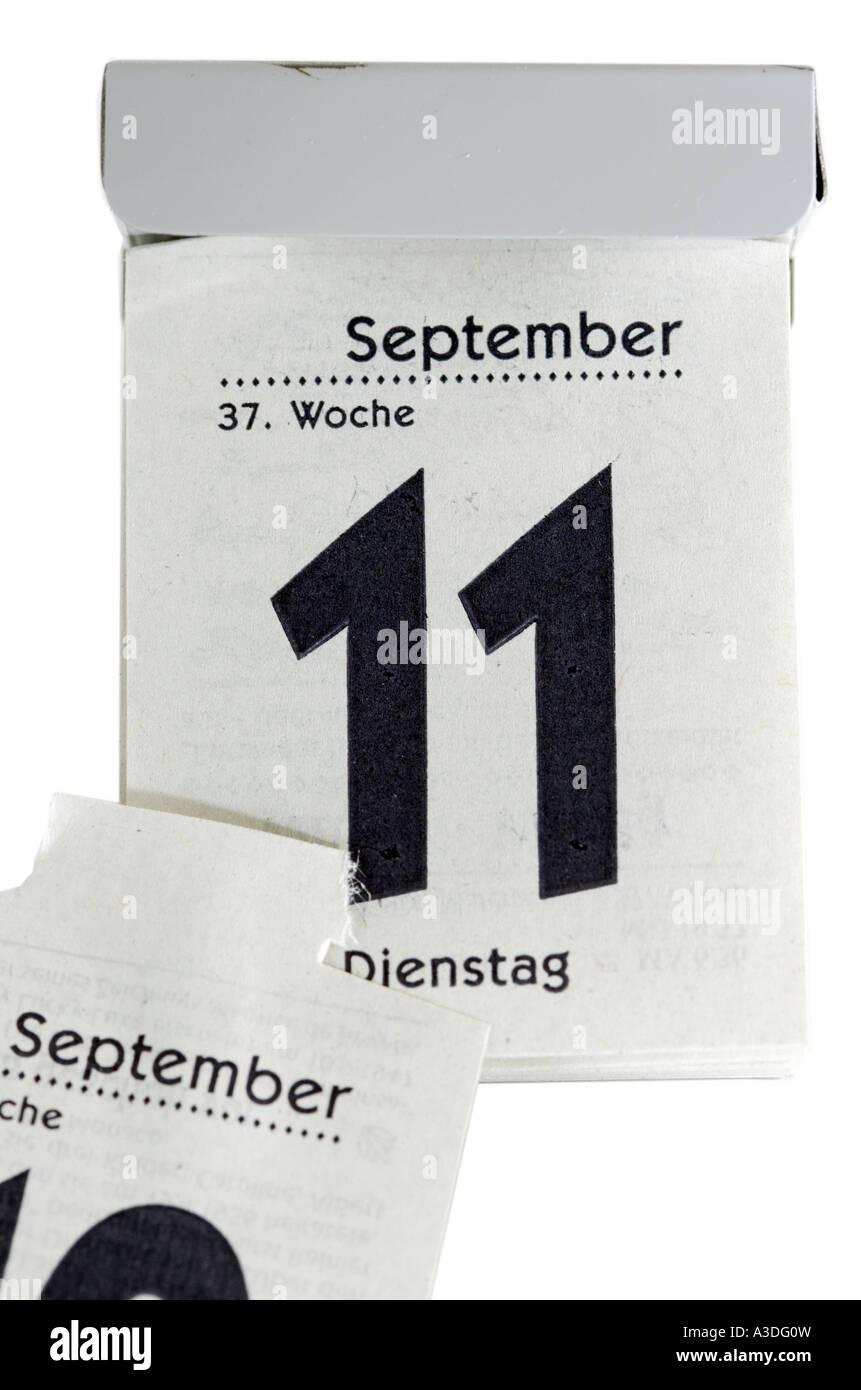 Calendario Settembre 2007.Undicesimo Di Settembre 2007 Su Un Strappare Calendario