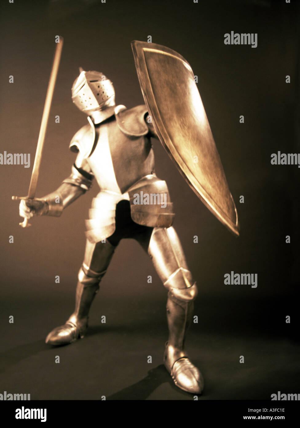 Knight in shining Armor Immagini Stock
