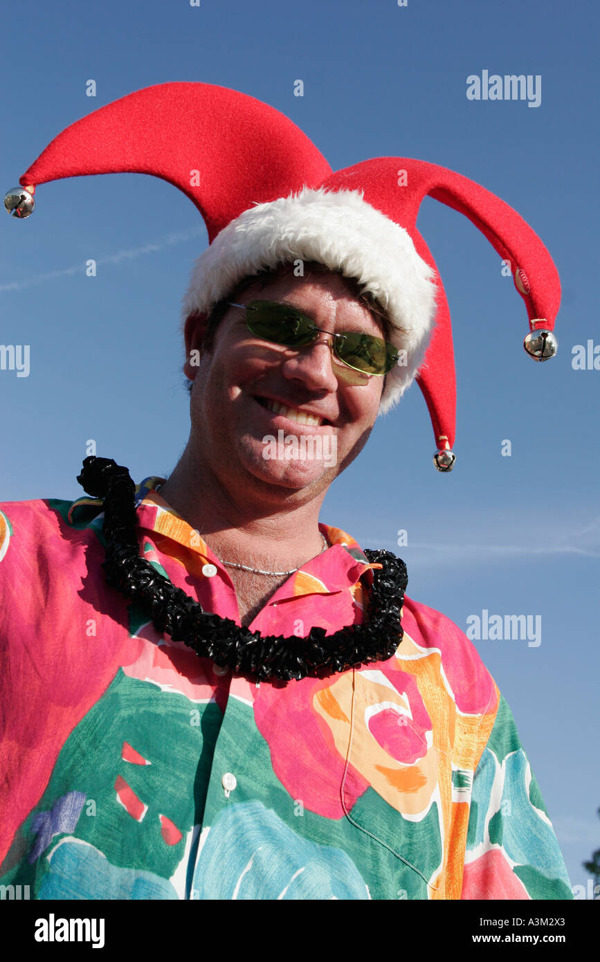 Coconut Grove Florida re del puntone di Mango annuale parata satira parodia  uomo sorridente Mardi Gras 146494f8f3bf