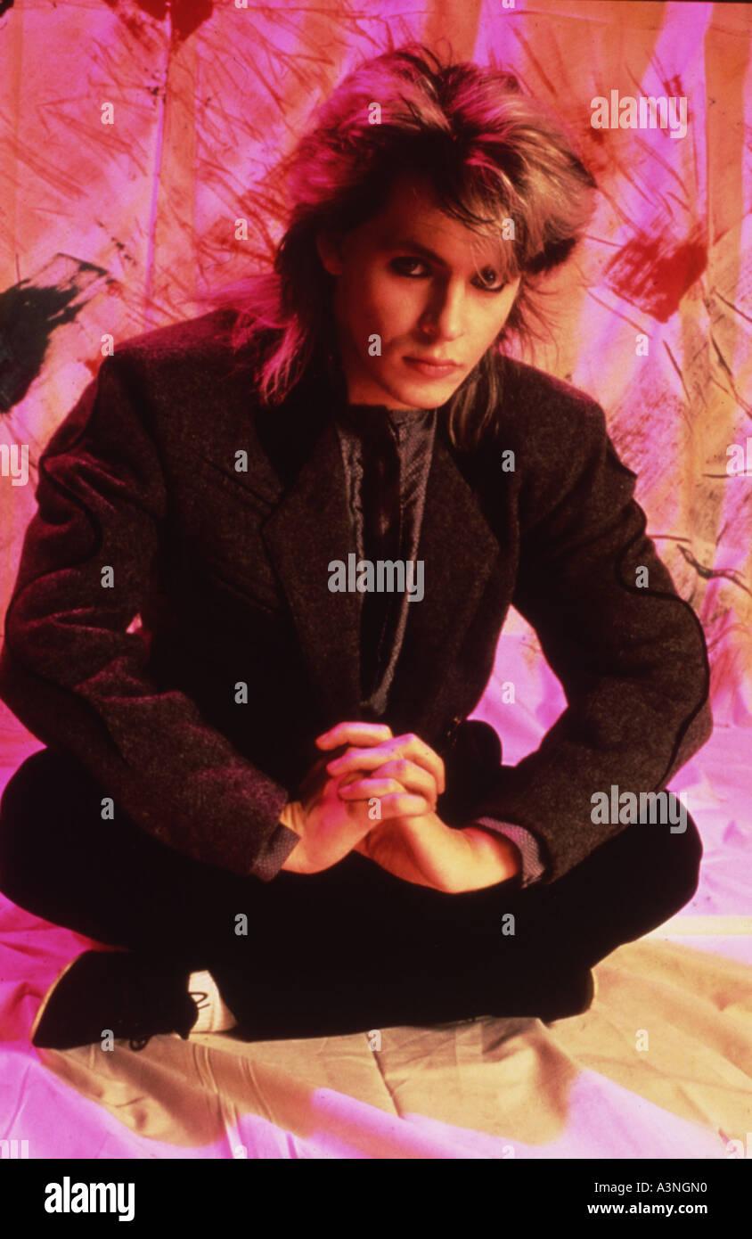 DURAN DURAN - REGNO UNITO gruppo pop con Nick Rhodes nel 1985. Foto Valerie Walker Immagini Stock