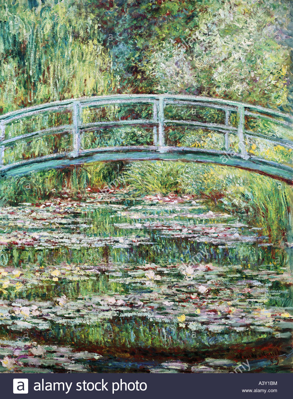 """""""Belle Arti, Monet, Claude, (1840 - 1926), pittura, 'Pont Japonais a Giverny', (""""ponte giapponese Immagini Stock"""