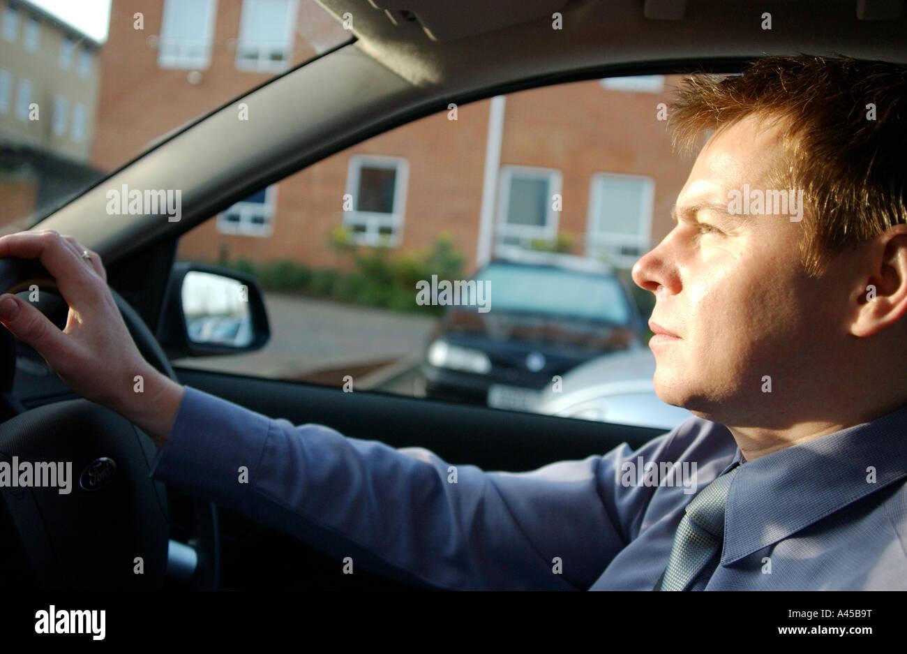 Royalty free fotografia di driver britannico il pendolarismo a Londra REGNO UNITO lavorando duro per tutto il giorno Immagini Stock