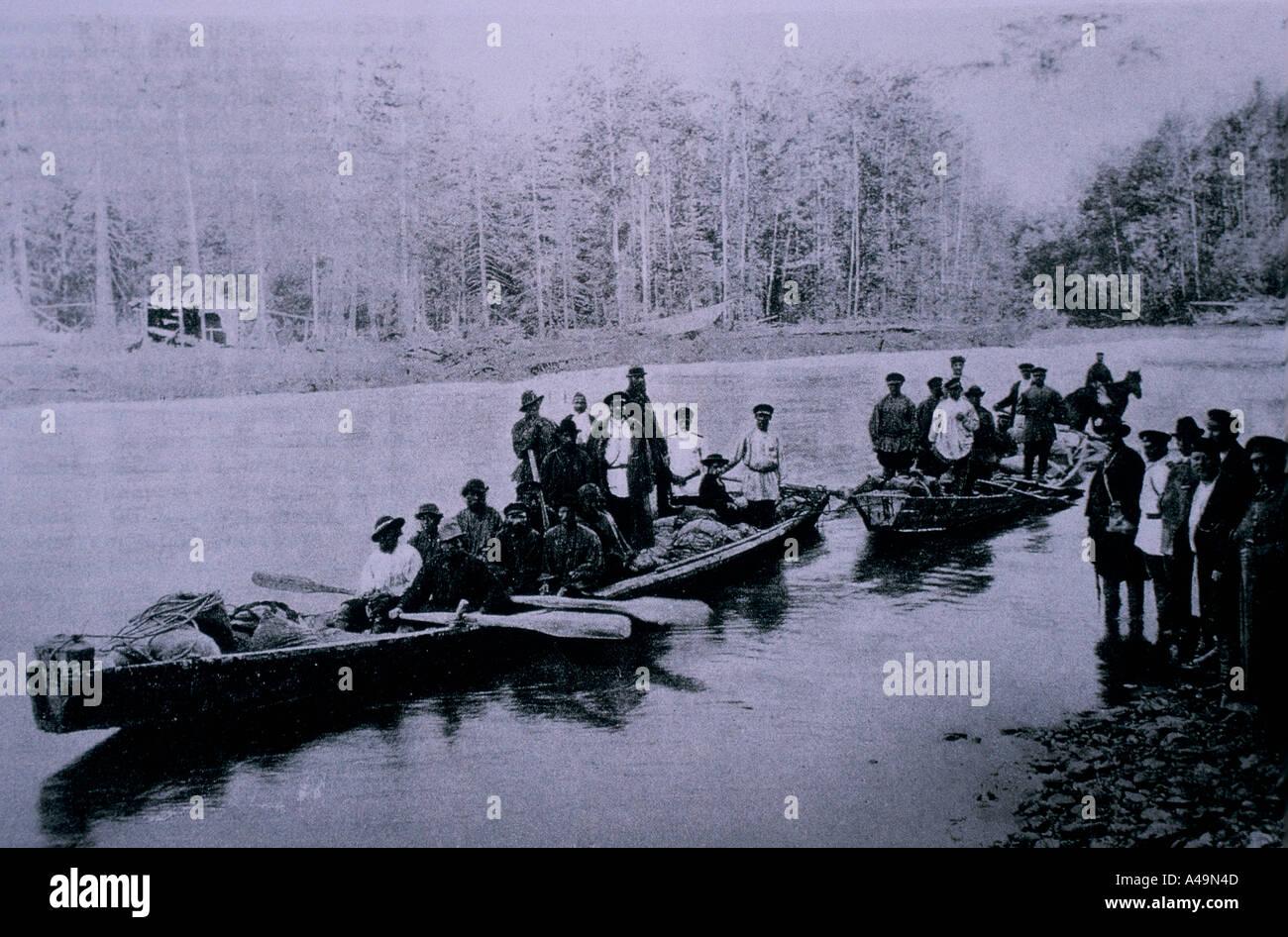 Fiume amur russia archivio fotografico cercatori d oro oro invio giù il  fiume nel 1870 1996 865b714d9179