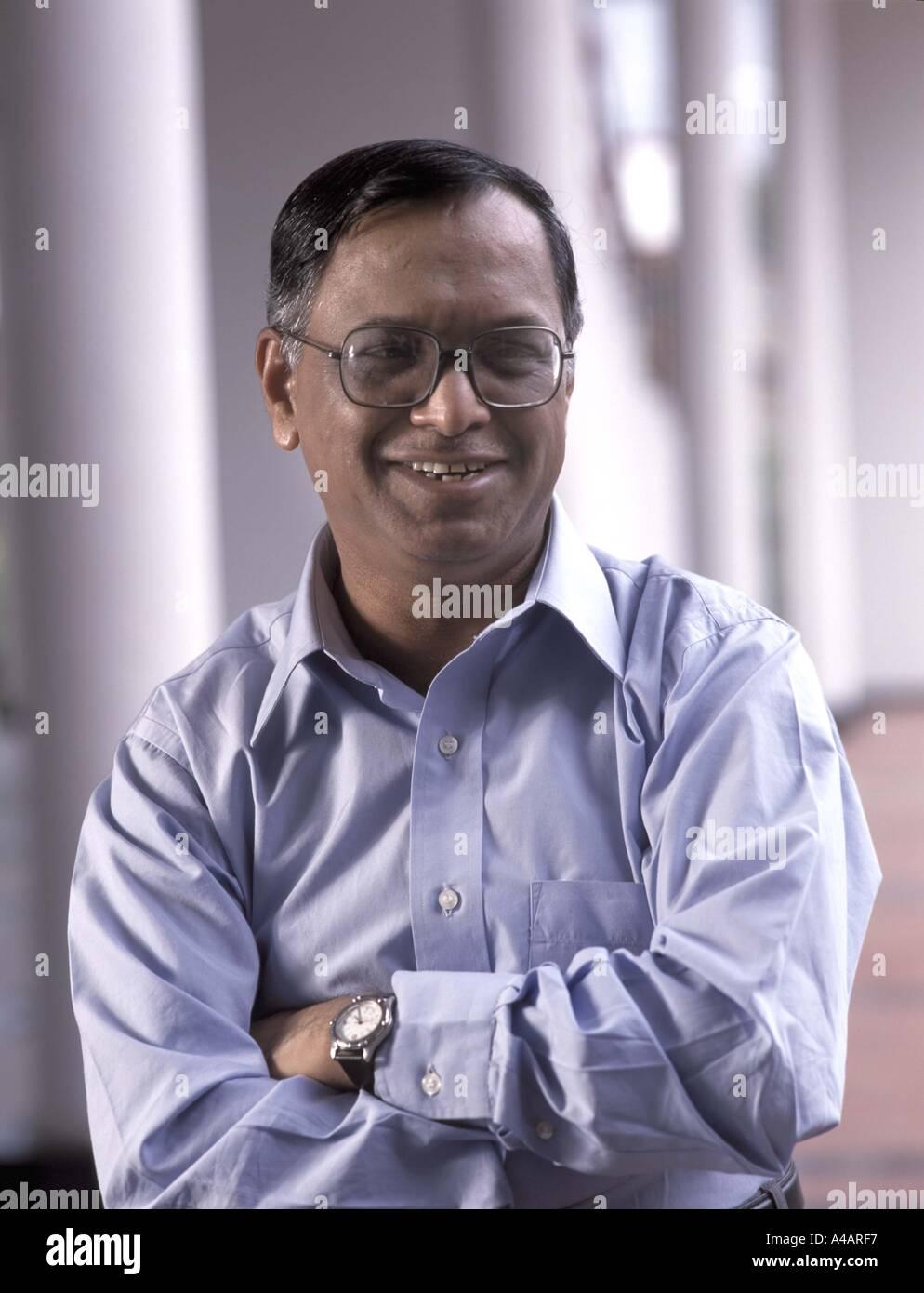 Nr Narayana Murthy presidente di infosys Bangalore in India Immagini Stock