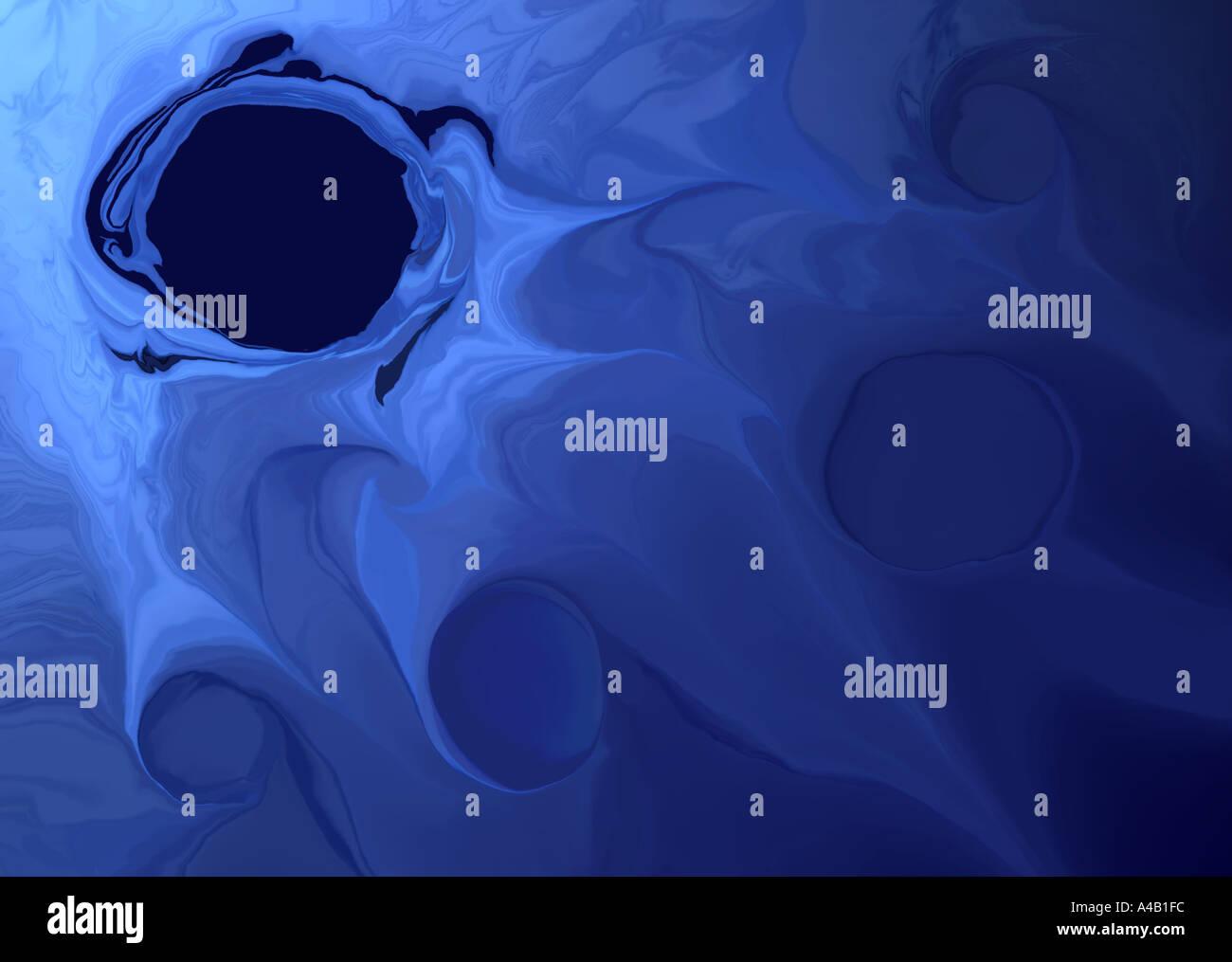 Buco nero - concetto Immagini Stock