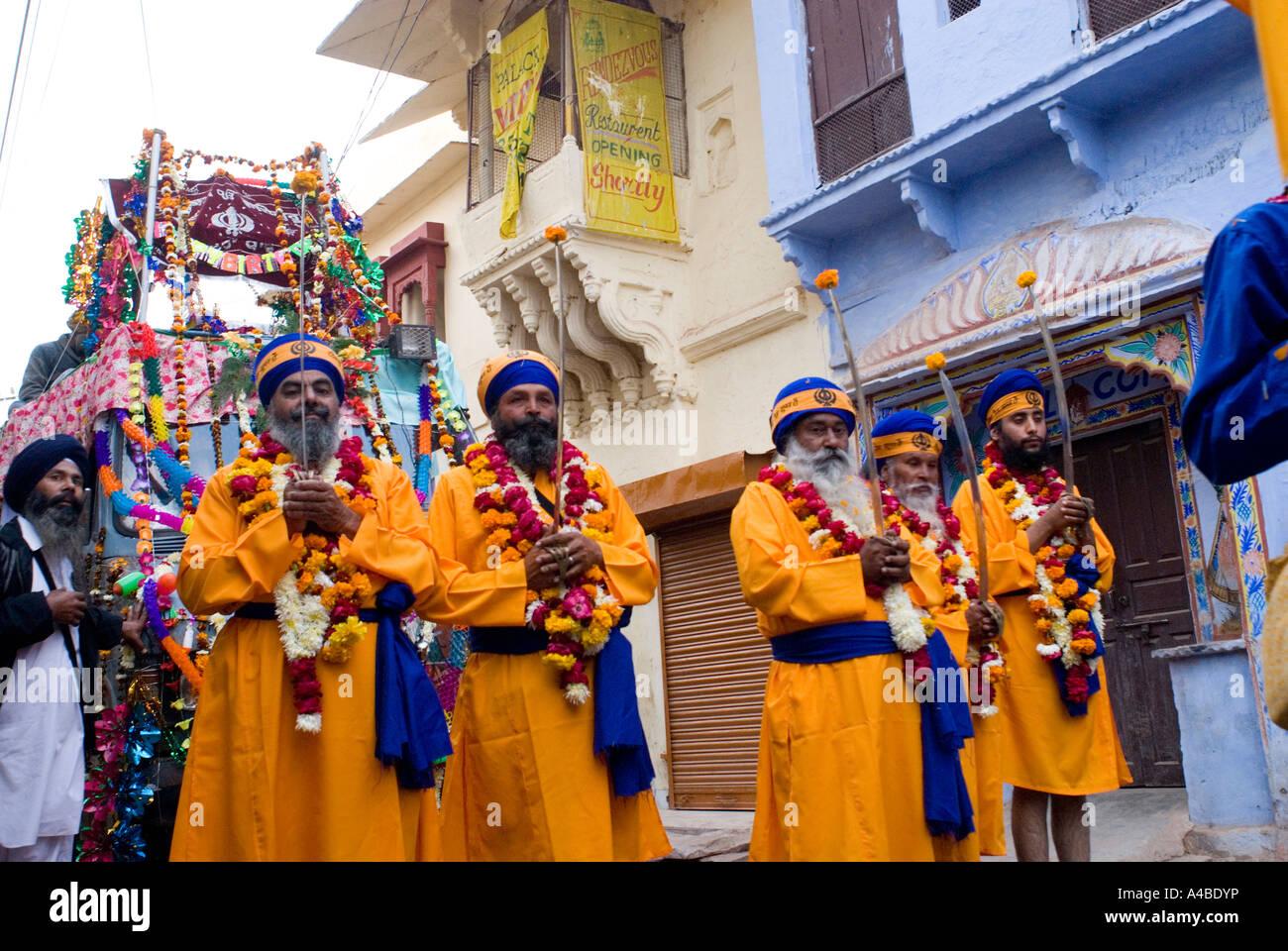 Immagine di stock di Gurupurab festival Sikh di Bhai Amar Das o Bhai Amardas in Bundi Rajasthan in India Immagini Stock