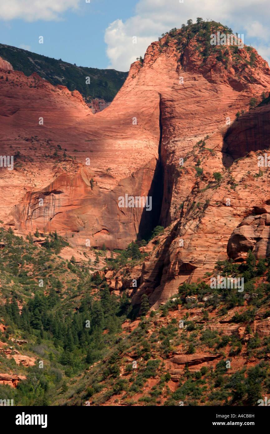Kolob canyon zion national park, Utah Foto Stock