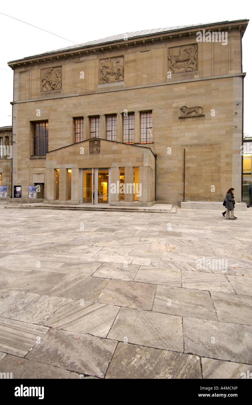 La Kunsthaus art gallery di Zurigo Svizzera. Immagini Stock