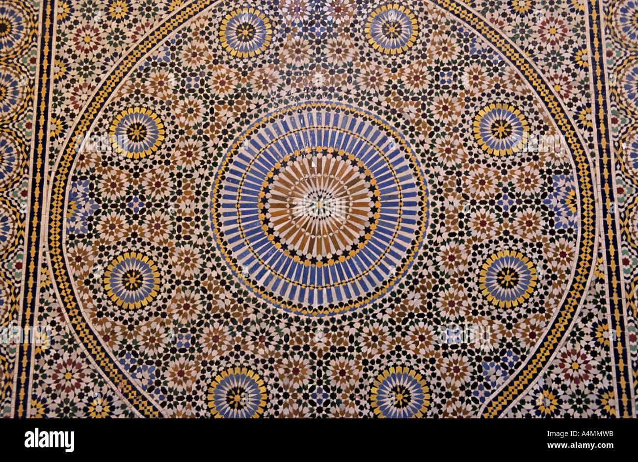 Il marocco fes marocchino tradizionale parete mosaico fatto da mano