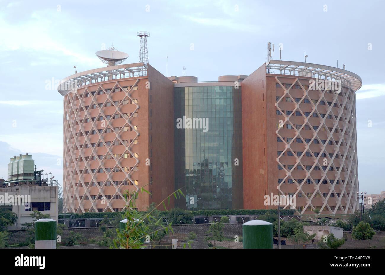 ANG77663 edificio moderno a Hi-tech Hydrabad città di Andhra Pradesh in India Asia Immagini Stock