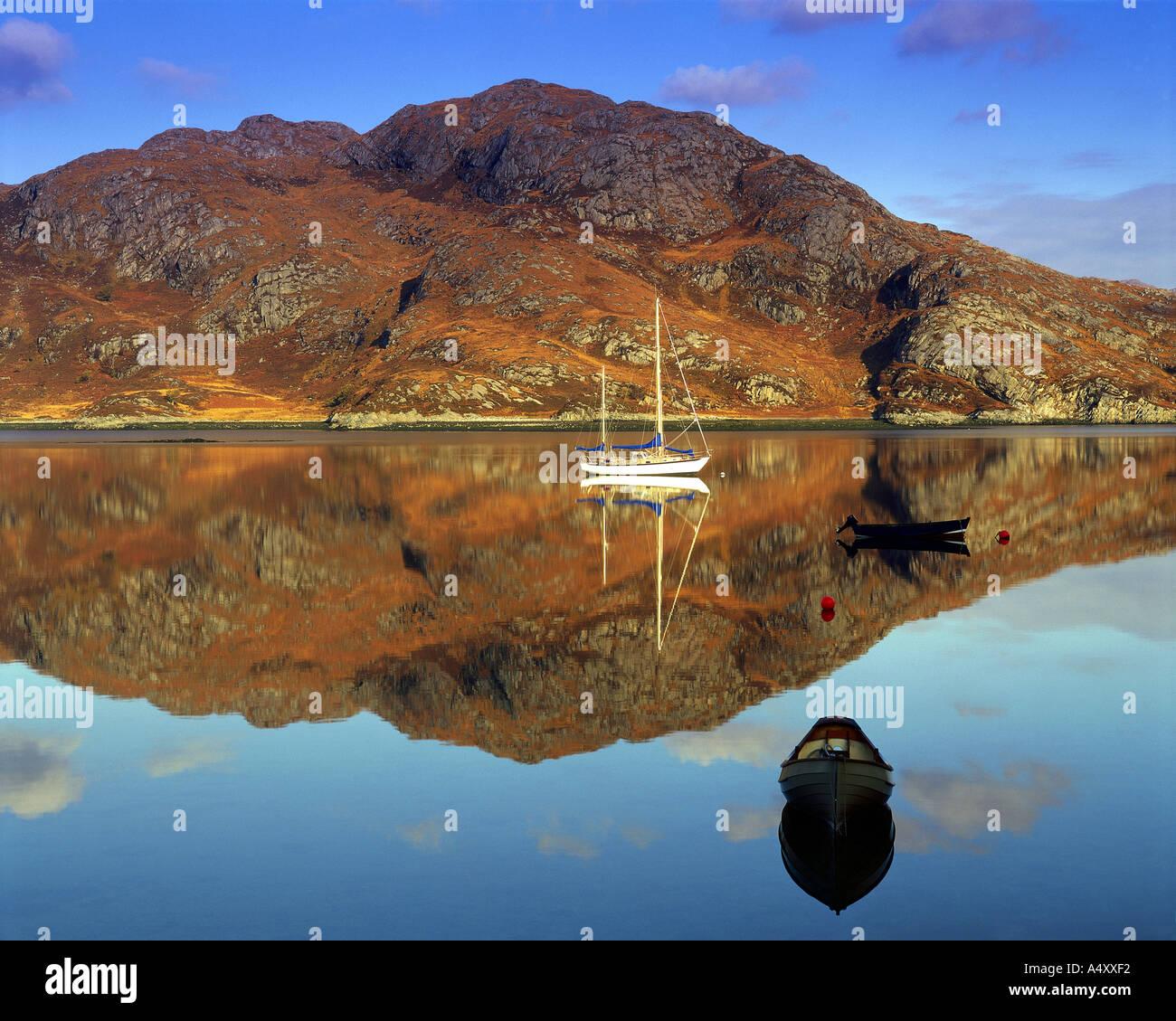 GB - Scozia: Loch Ailort nelle Highlands Foto Stock