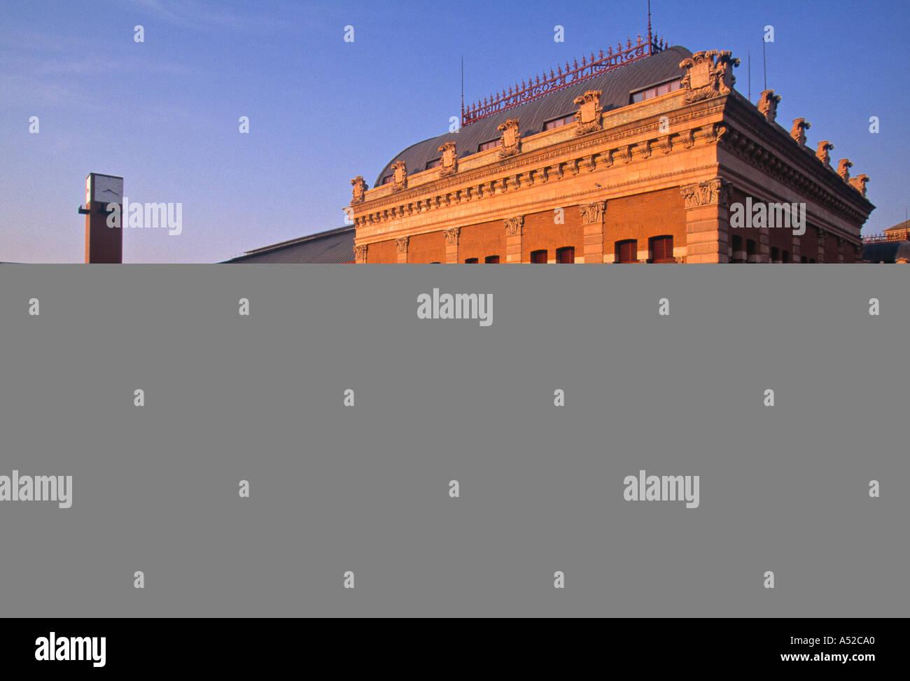 La stazione ferroviaria di Atocha, Madrid, Spagna Immagini Stock