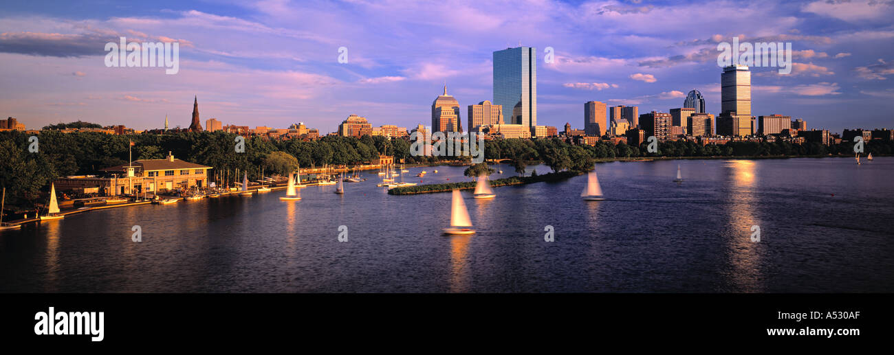 Back Bay di Boston, Massachusetts, STATI UNITI D'AMERICA Immagini Stock