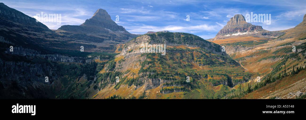 Logan pass, Glacier Nat. Parco, Montana, USA Immagini Stock