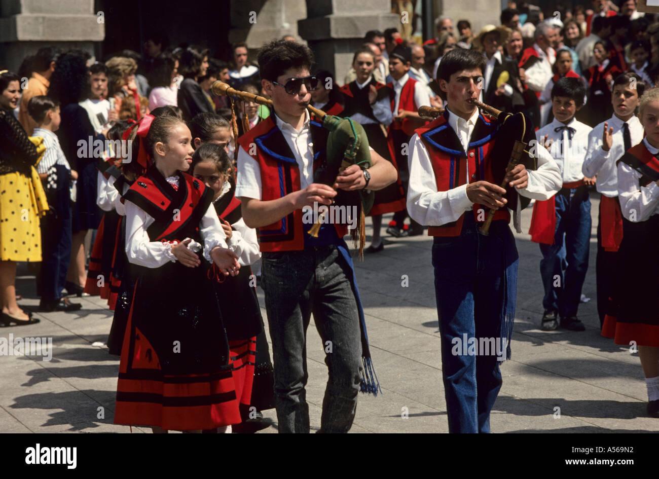 Fiesta in Lugo Galizia Spagna Immagini Stock