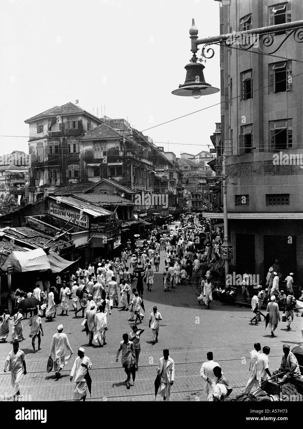 Vecchio vintage 1900s kalbadevi road bombay Mumbai India Maharashtra 1947 Immagini Stock