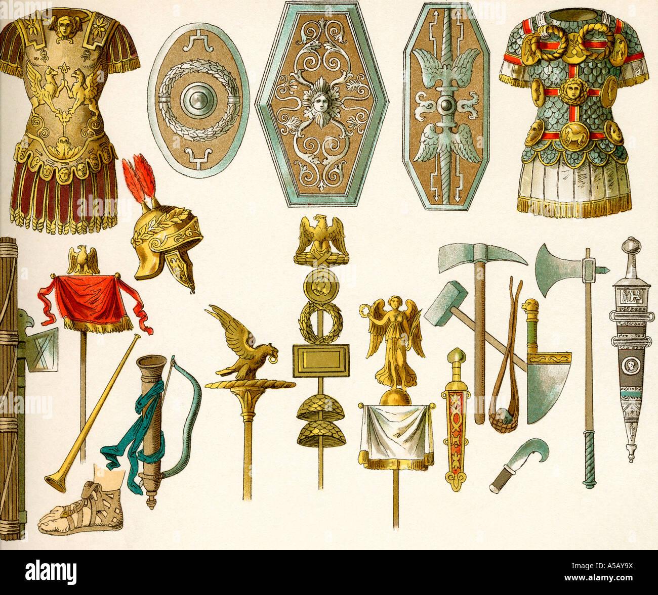 Antico romano armi e armature Immagini Stock