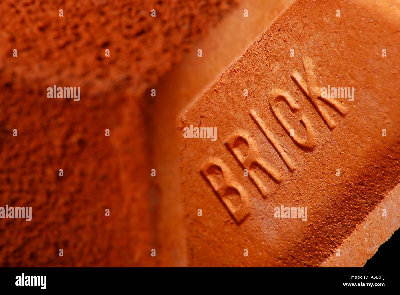 Un close-up di un mattone. Foto di Patrick patricksteel in acciaio Immagini Stock