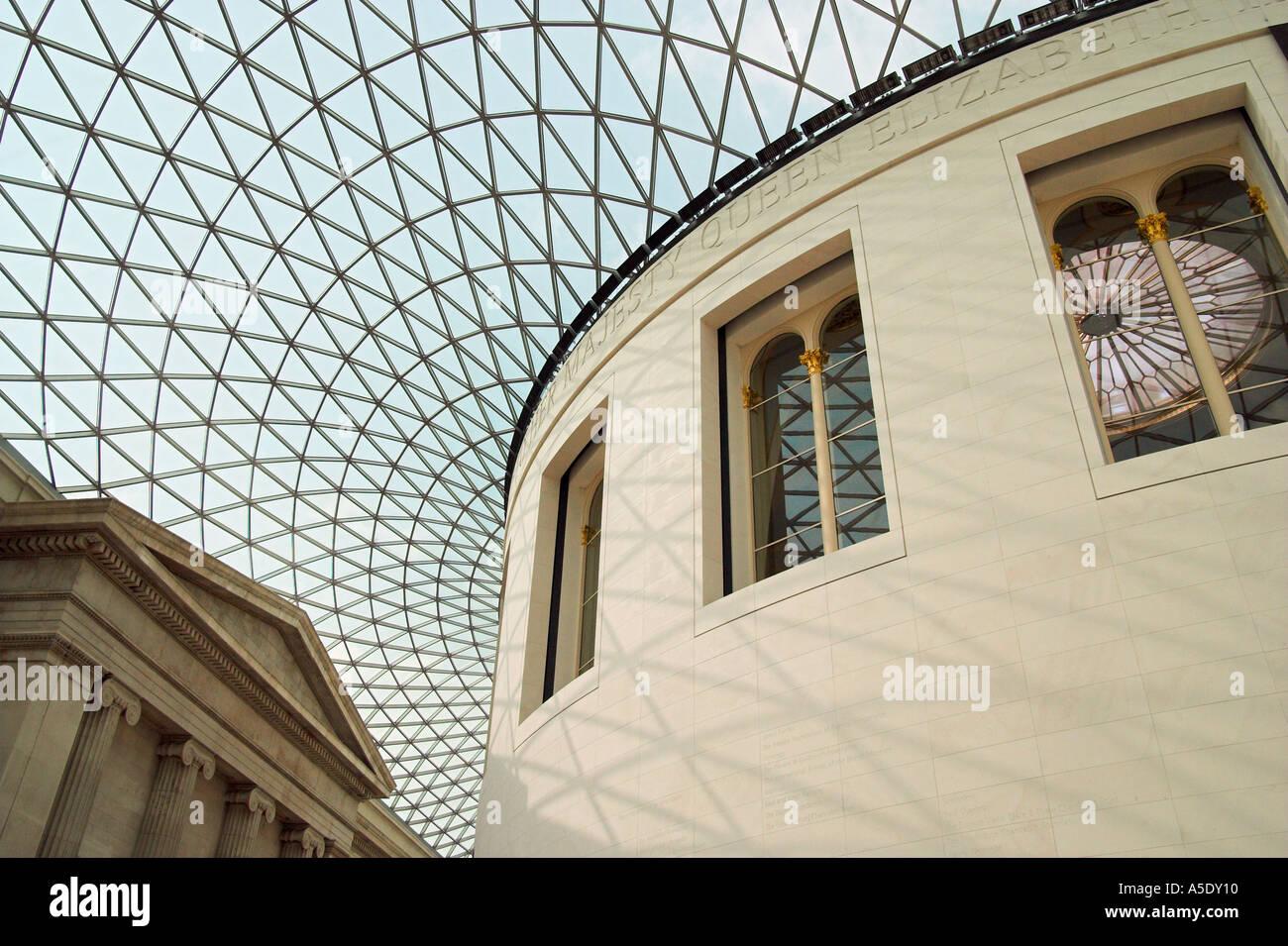 La Great Court al British Museum di Londra Inghilterra Immagini Stock