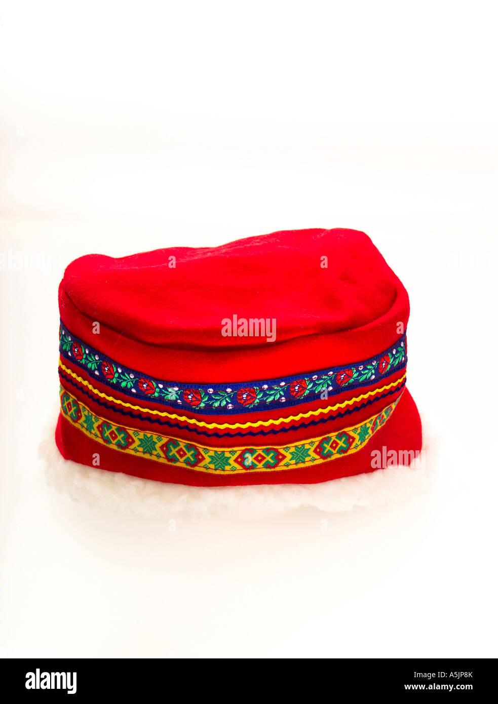 Sami tradizionali hat dal nord della Svezia Immagini Stock
