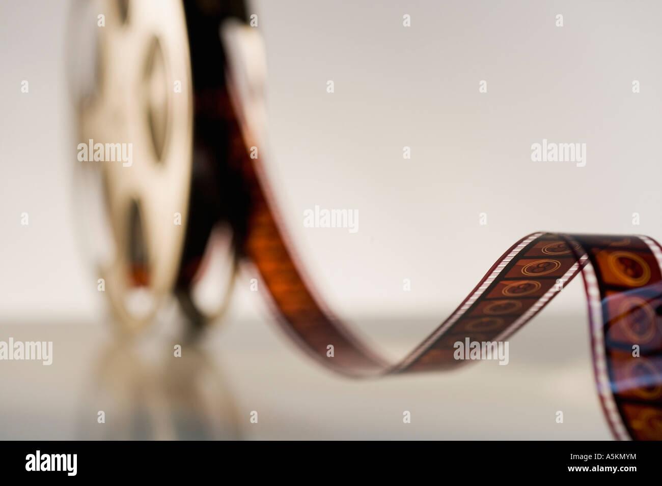 Close up di bobina di pellicola cinematografica Immagini Stock
