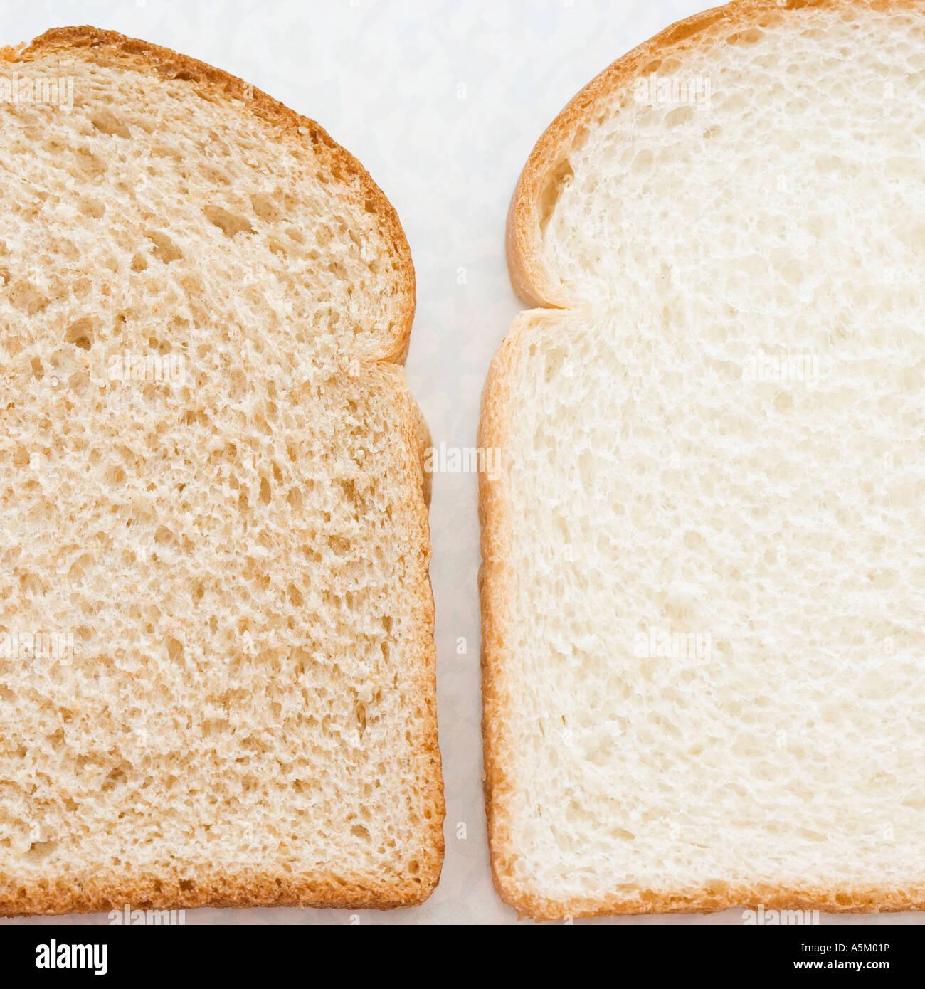 Close up di fette di pane Immagini Stock