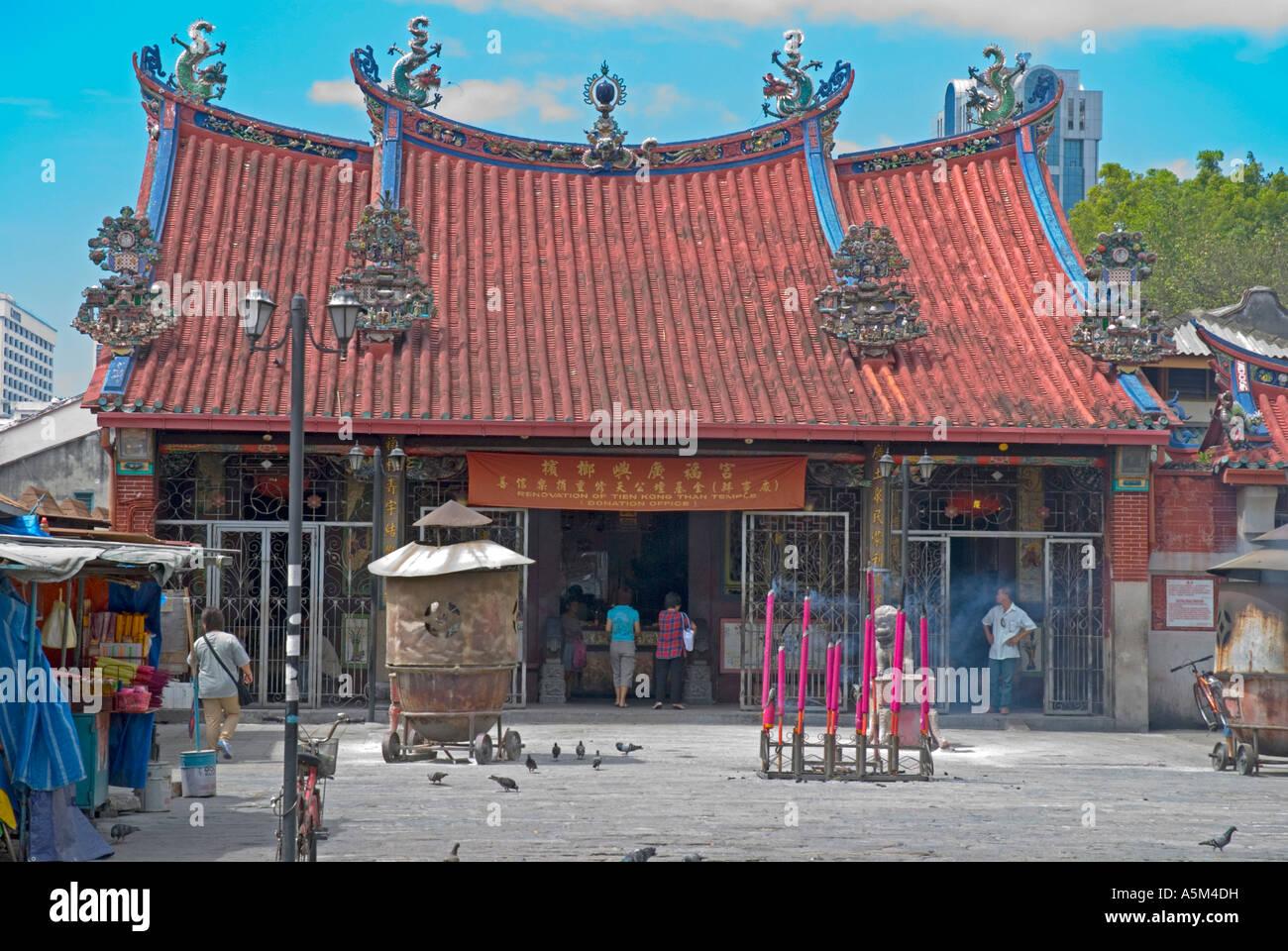 Il Tempio della Dea della Misericordia Kwan Ying Teng Georgetown Penang Immagini Stock
