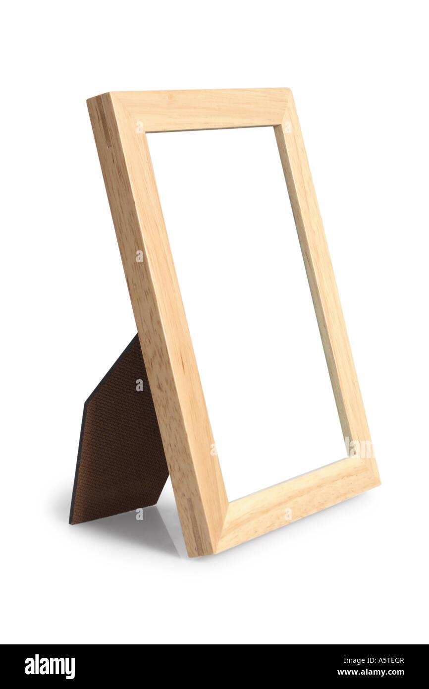 Cornice immagine ritagliata su sfondo bianco Immagini Stock