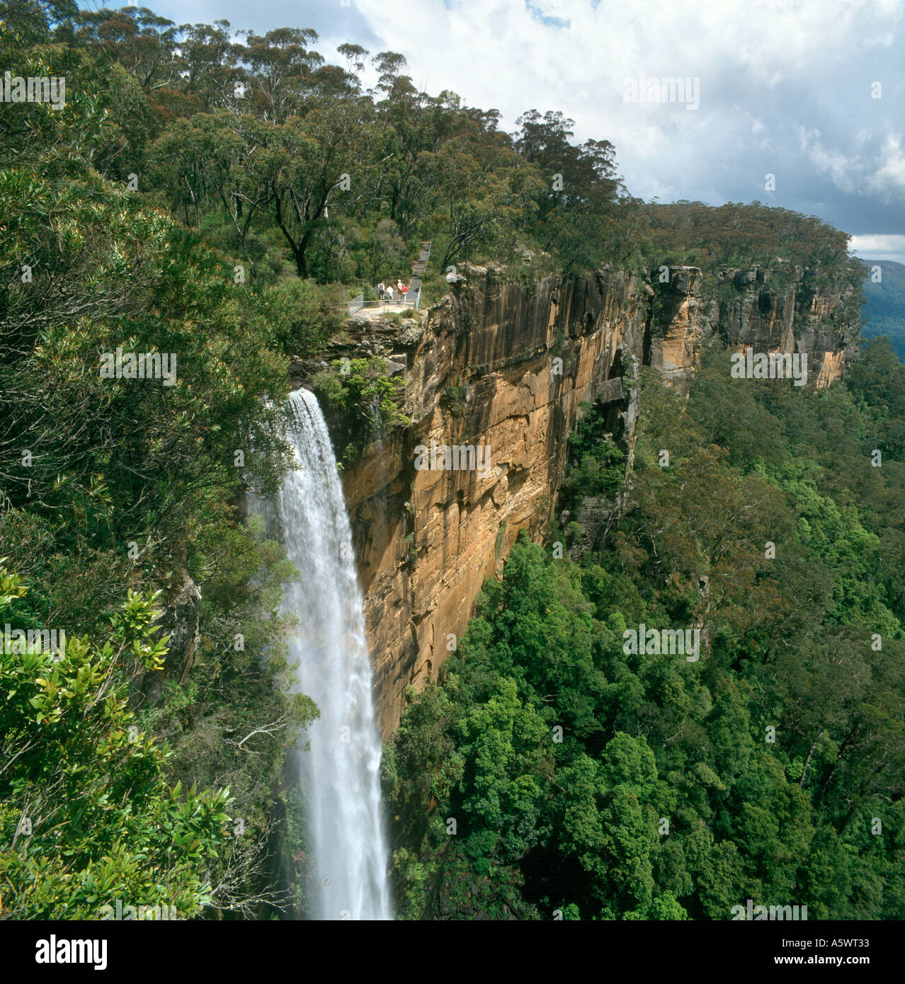 Cascate di Fitzroy e Yarrunga Valley, Morton National Park, Southern Highlands, Nuovo Galles del Sud, Australia Immagini Stock