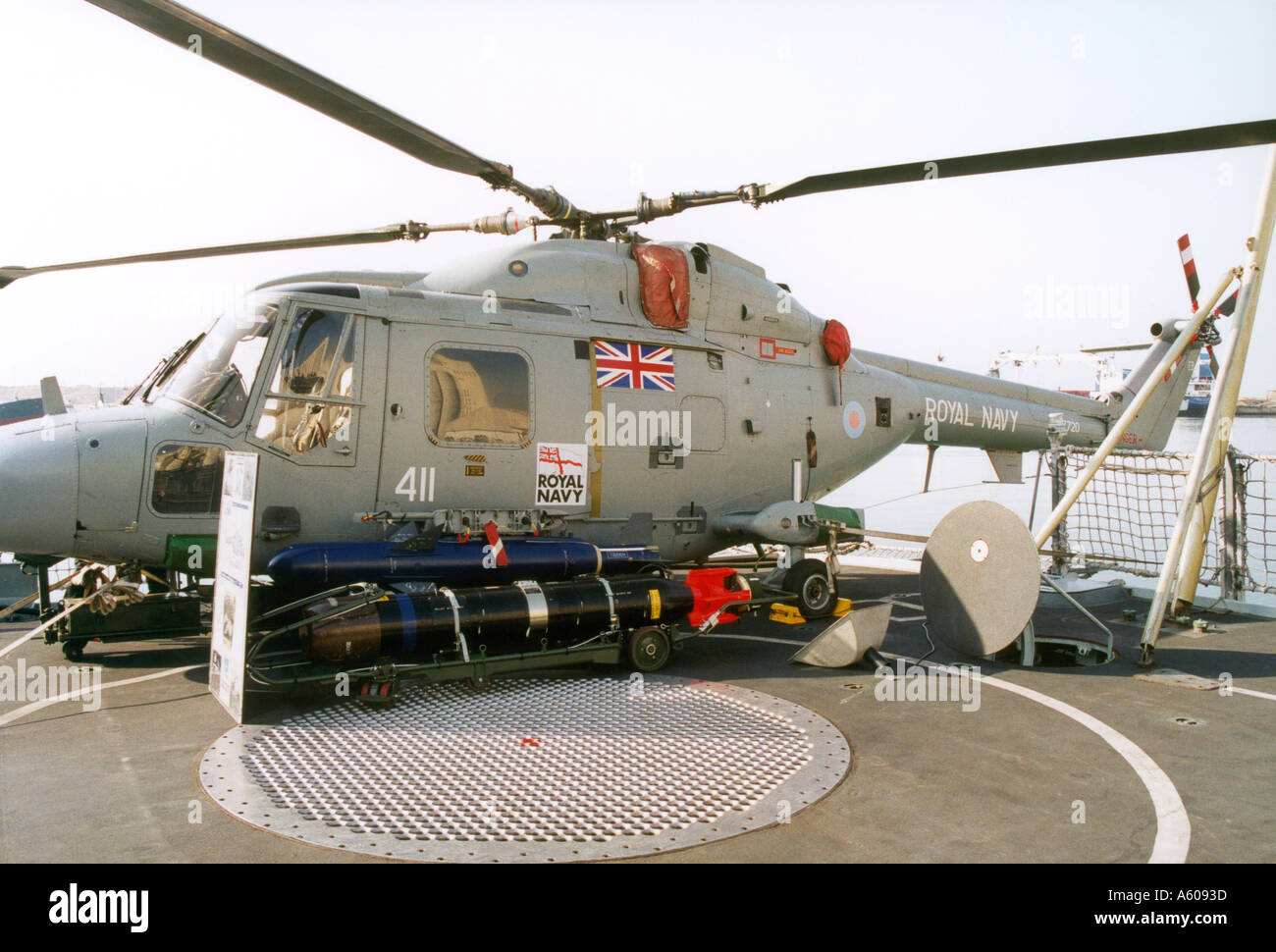 Elicottero 609 : Lynx anti sommergibile elicottero a bordo hms edinburgh royal navy