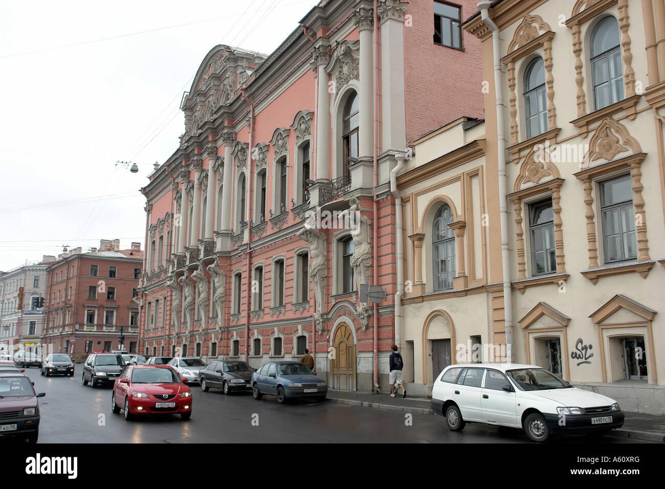 Painet JJ1944 russia beloselskiybelozerkiy palace rococco Capolavoro costruito andrey stakenschneider metà Immagini Stock